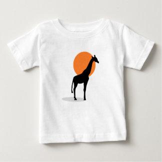 De Zonsondergang van de giraf Baby T Shirts