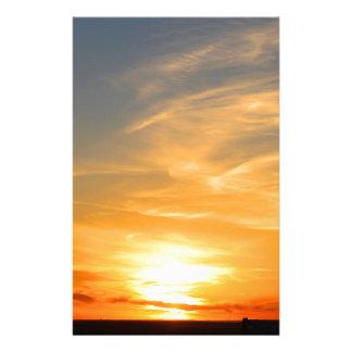 De Zonsondergang van de Herfst van de Oogst van de Briefpapier