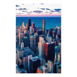 De Zonsondergang van de Horizon van Chicago Briefpapier
