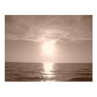 De Zonsondergang van de nostalgie over Meer Erie Briefkaart