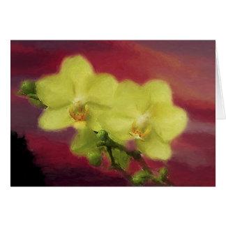 De Zonsondergang van de orchidee Kaart