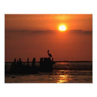 De Zonsondergang van de Pas van het San Luis Foto Afdruk