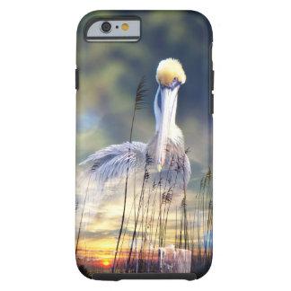 De Zonsondergang van de pelikaan Tough iPhone 6 Hoesje