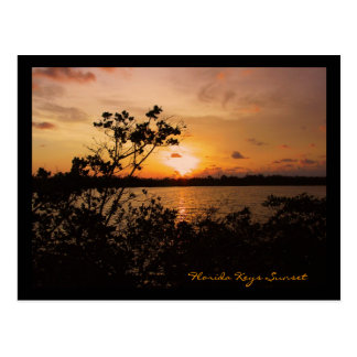 De Zonsondergang van de Sleutels van Florida Briefkaart