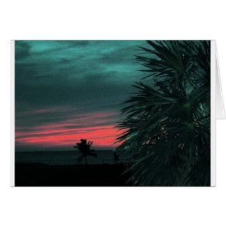 De Zonsondergang van de Sleutels van Florida Wenskaart