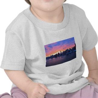 De Zonsondergang van de Stad van New York Tshirt