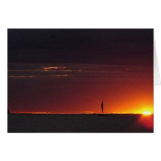 De Zonsondergang van de zeilboot Kaart