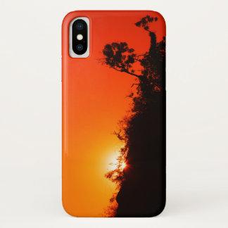 De Zonsondergang van het silhouet iPhone X Hoesje