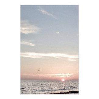 De Zonsondergang van het strand Briefpapier