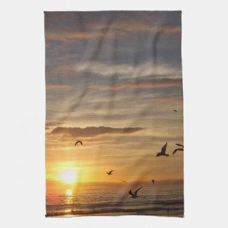 De Zonsondergang van het Strand van Florida met Theedoek