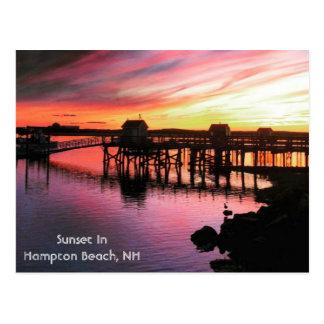 De Zonsondergang van het Strand van Hampton Briefkaart