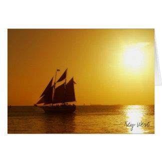 De Zonsondergang van Key West Kaart