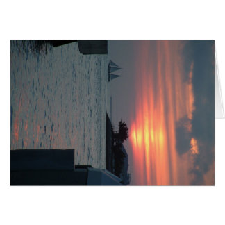 De Zonsondergang van Key West Wenskaart