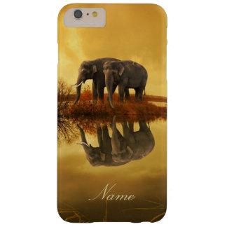 De Zonsondergang van olifanten Barely There iPhone 6 Plus Hoesje