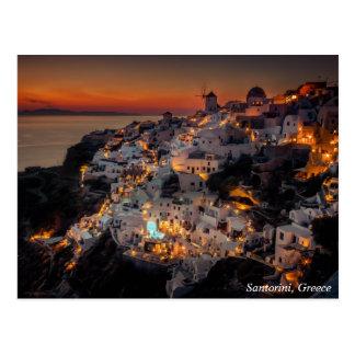 De Zonsondergang van Santorini, Griekenland Briefkaart