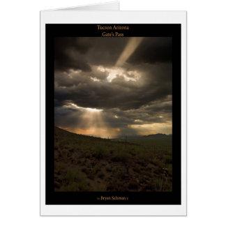De Zonsondergang van Tucson Arizona Wenskaart