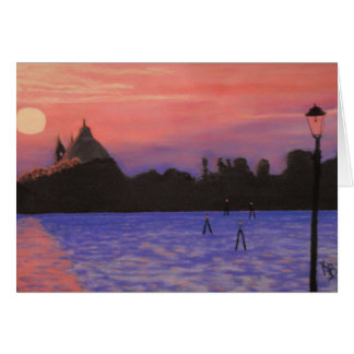 De Zonsondergang van Venetië notecard Kaart