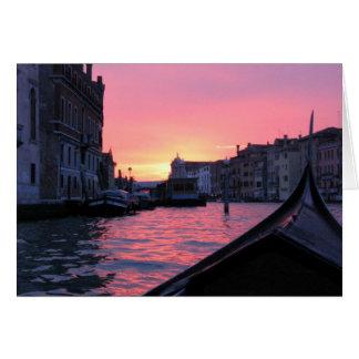 De Zonsondergang van Venetië Wenskaart