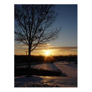 De Zonsondergang van Vermont Briefkaart