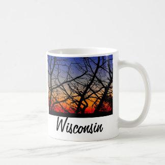 De zonsondergang van Wisconsin Koffiemok