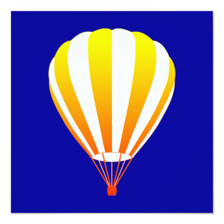 de zonsondergang verdwijnt hete luchtballon 13,3x13,3 vierkante uitnodiging kaart