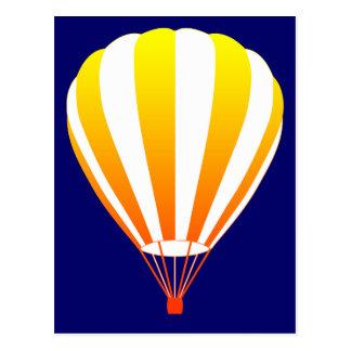 de zonsondergang verdwijnt hete luchtballon briefkaart
