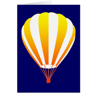 de zonsondergang verdwijnt hete luchtballon langza kaart