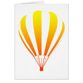 de zonsondergang verdwijnt hete luchtballon langza wenskaart