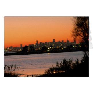 De zonsondergangwenskaart van San Francisco Briefkaarten 0
