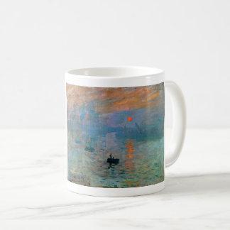 De Zonsopgang van de indruk door Claude Monet Koffiemok