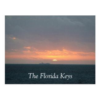 De Zonsopgang van de Sleutels van Florida Briefkaart