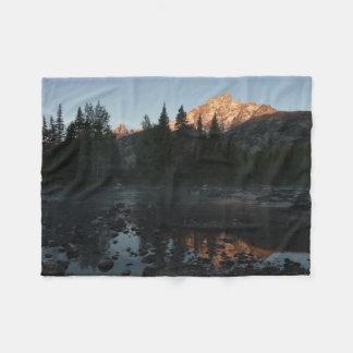 De Zonsopgang van Grand Teton bij Kreek Cottonwood Fleece Deken