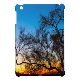 De Zonsopgang van het Silhouet van de Boom van Hoesje Voor iPad Mini