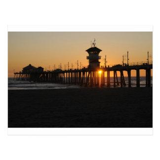 De Zonsopgang van het Strand van Huntington bij Briefkaart