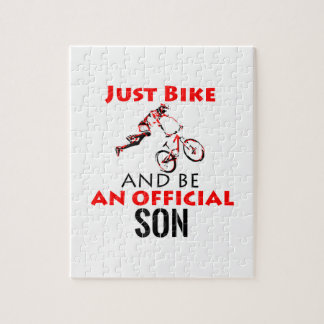 de zoon van de fietsruiter legpuzzel