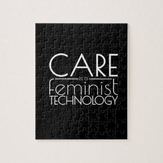 De zorg is een Feministische Technologie Puzzel