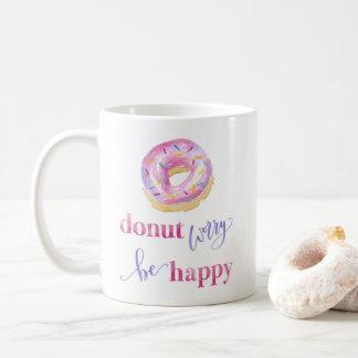 De Zorg van de doughnut is Gelukkige Mok