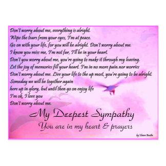 De Zorg van Don'y over me, Sympathy_Postcard Briefkaart
