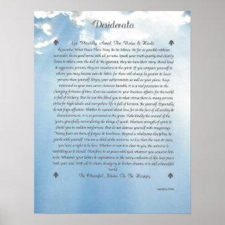 De Zorgvuldige Wolken van WENSEN Poster