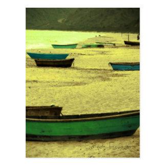 De Zoutmeren van de prentbriefkaar, Ecuador Briefkaart