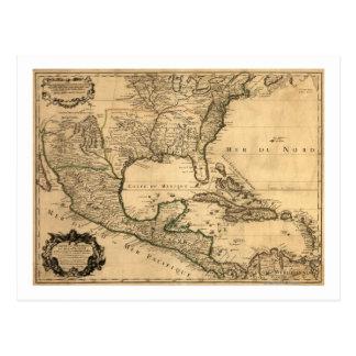 De zuidelijke Kaart van Verenigde Staten en van Briefkaart
