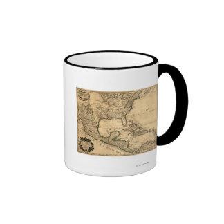 De zuidelijke Kaart van Verenigde Staten en van Mi Koffie Beker