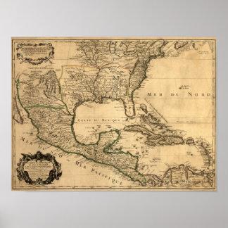 De zuidelijke Kaart van Verenigde Staten en van Mi Poster