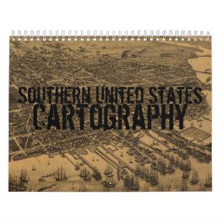 De zuidelijke Kalender van de Cartografie van