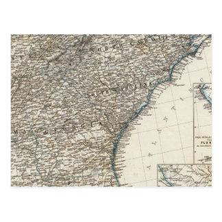 De Zuidelijke Staten van de Verenigde Staten van A Wenskaart