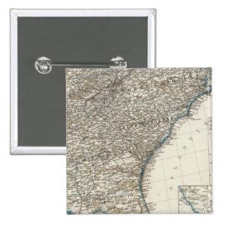 De Zuidelijke Staten van de Verenigde Staten van A Vierkante Button 5,1 Cm
