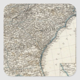 De Zuidelijke Staten van de Verenigde Staten van Vierkante Stickers