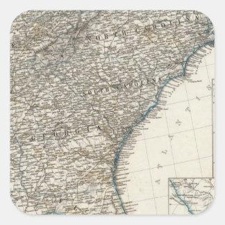 De Zuidelijke Staten van de Verenigde Staten van Vierkant Sticker