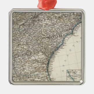 De Zuidelijke Staten van de Verenigde Staten van Zilverkleurig Vierkant Ornament