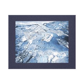 De zuidwaartse LuchtHaven van de Parel van het Canvas Afdrukken